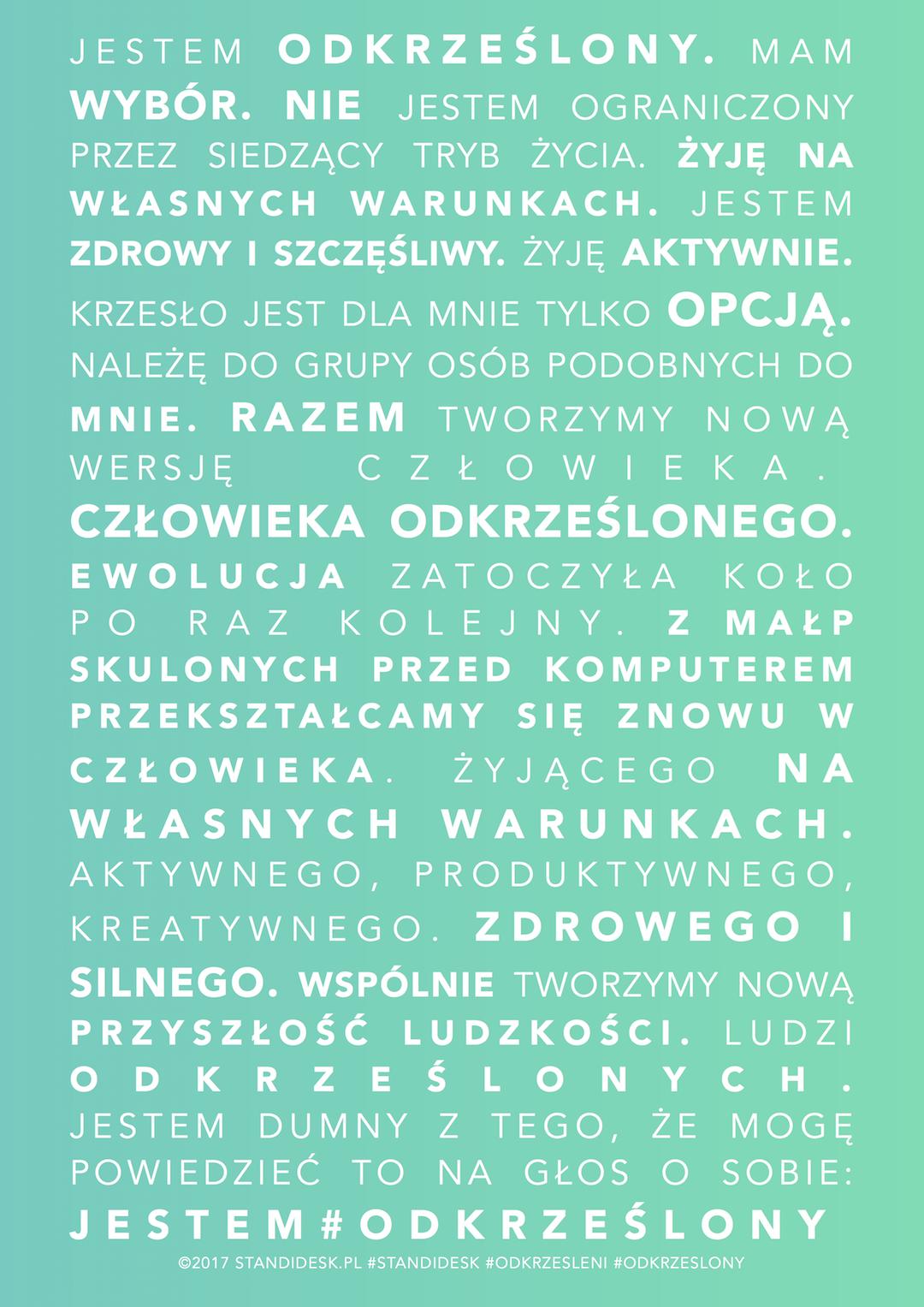 manifest standidesk #odkrzesolny