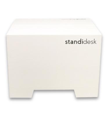 Kartonowa nakładka na biurko do pracy w pozycji stojącej