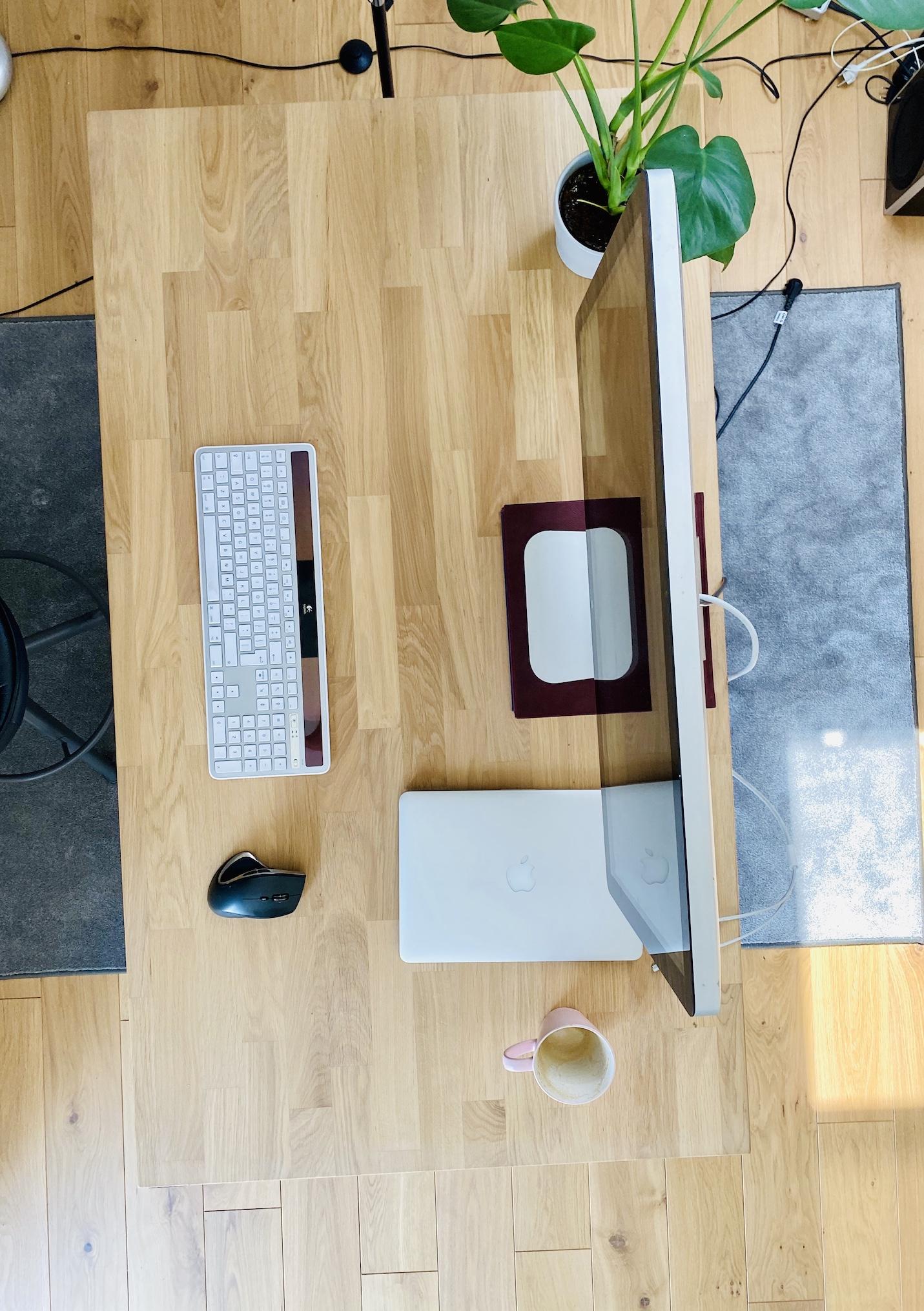 OAKDESK - biurko regulowane elektrycznie z blatem dąb naturalna krawędź premium 20