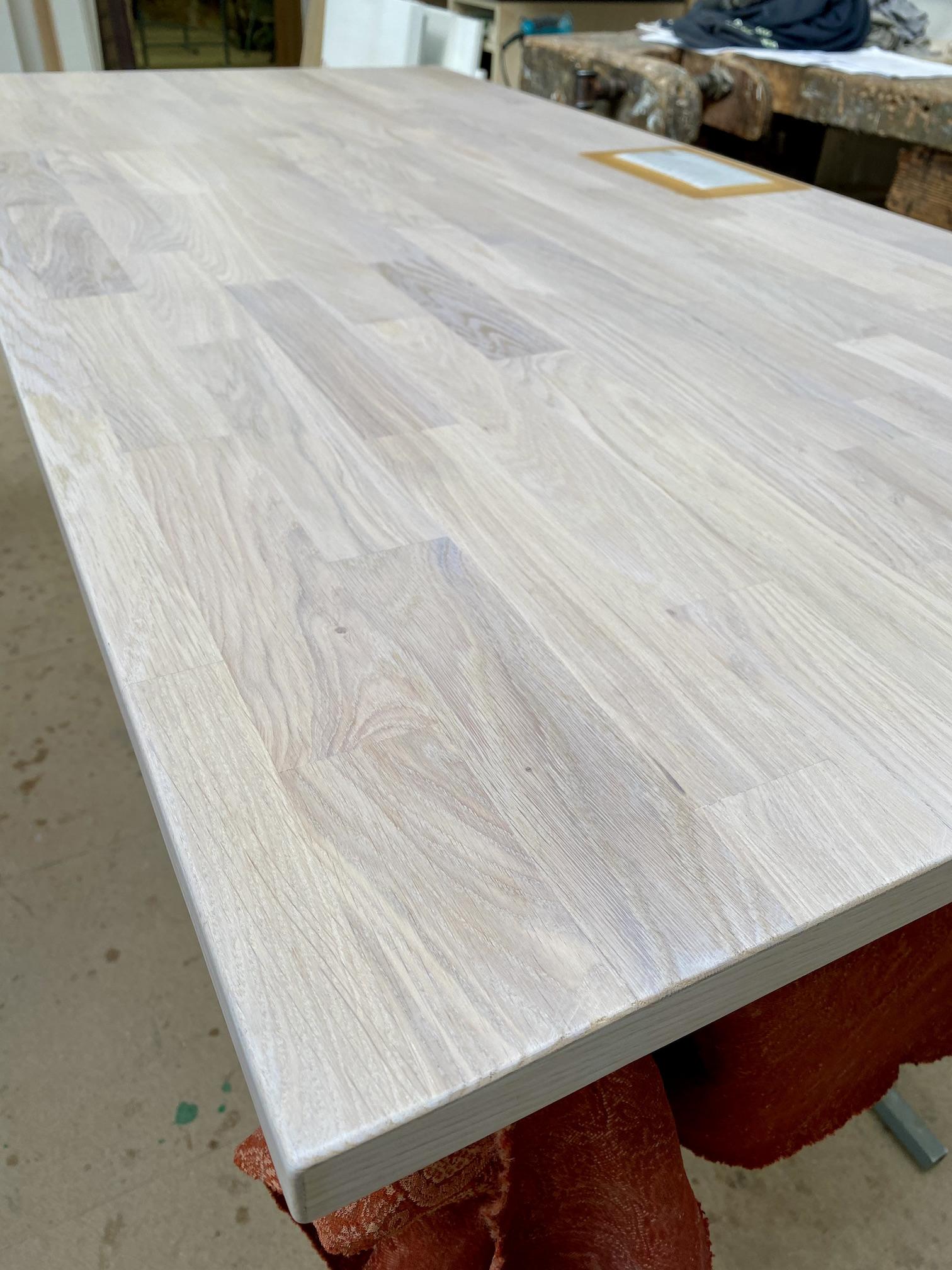 OAKDESK - biurko regulowane elektrycznie z blatem dąb naturalna krawędź premium 27