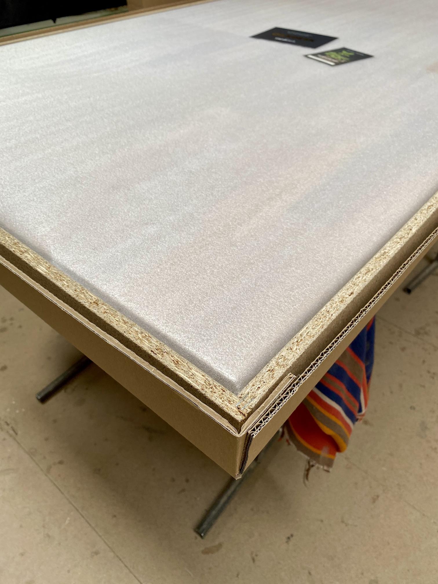 OAKDESK - biurko regulowane elektrycznie z blatem dąb naturalna krawędź premium 26