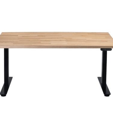 Dębowe biurko z elektryczną regulacją wysokości do pracy na stojąco