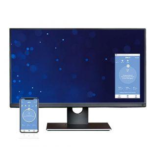 OAKDESK - biurko regulowane elektrycznie z blatem dąb naturalna krawędź premium 6