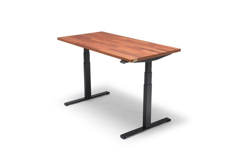 OAKDESK - biurko regulowane elektrycznie z blatem merbau premium 1