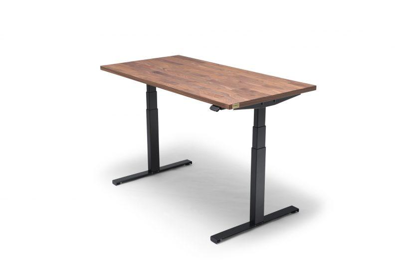 OAKDESK - biurko regulowane elektrycznie z blatem orzech amerykański premium 1